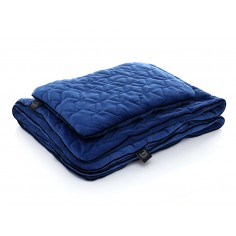Velvet Collection - Set - Blanket & Mid Pillow - Navy