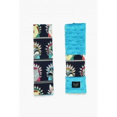 Seatbelt Cover - Indian Zoo - Turquoise