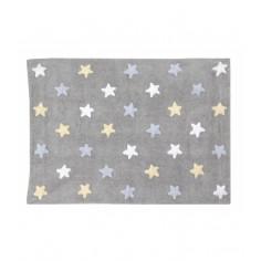 Dywan Tricolor Star Gris Azul
