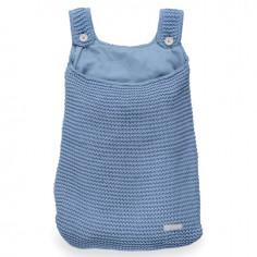 Duża torba na akcesoria Heavy Knit Chłodny błękit