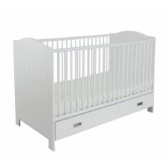 Łóżeczko Dziecięce Z Funkcją Tapczanika Fino White Białe 70x140