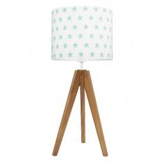 Lampa na stolik Gwiazdki miętowe Dąb