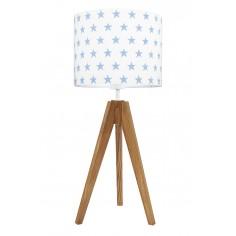 Lampa na stolik Gwiazdki błękitne Dąb