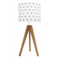 Lampa na stolik Gwiazdki szare Dąb