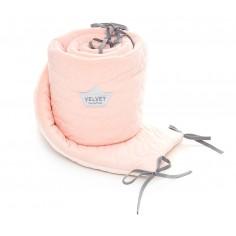 Velvet Collection - Ochraniacz do łóżeczka 70x140 cm - Powder Pink Bright