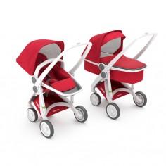 Greentom 2w1 Carrycot + Reversible Czerwony - biała rama
