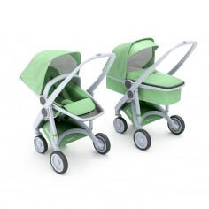Greentom 2w1 Carrycot + Reversible Miętowy - biała rama