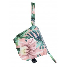 Travel Bag Compact Size - Peach Hawaiian Flowers