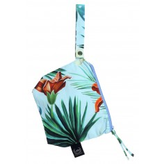 Travel Bag Compact Size - Blue Hawaiian Flowers