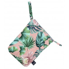 Travel Bag King Size - Peach Hawaiian Flowers