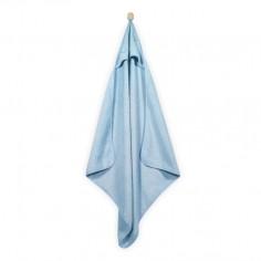 Mięciutki ręcznik z kapturem 75x75cm błękitny
