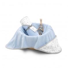 Ręcznik z kapturem Niebeski MilkyWay 90x90