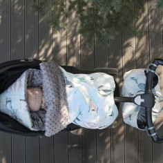 Stroller Bag Premium Śpiworek 'M' - Miss Cloudy - Grey