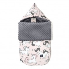 Stroller Bag: Śpiworek 'S' Premium - Unicorn Sugar Bebe - Grey