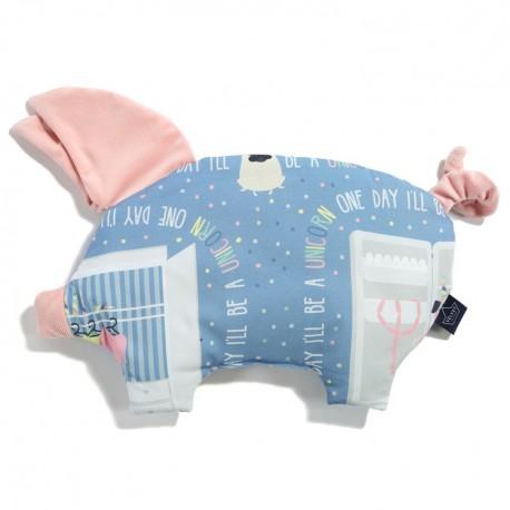 Velvet Collection - Podusia Sleepy Pig - Doggy Unicorn Story - Powder Pink