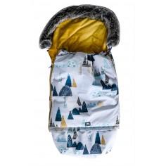 Śpiworek Superb Eskimo do wózka, fotelika, gondoli rośnie z dzieckiem góry gold