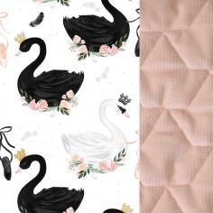 Velvet Collection - Mufka Premium - Moonlight Swan - Powder Pink