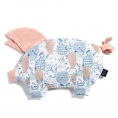 Velvet Collection - Podusia Sleepy Pig - La Millou Family - Powder Pink Bright