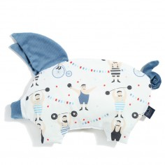 Podusia Sleepy Pig  - Circus Strongman - Denim