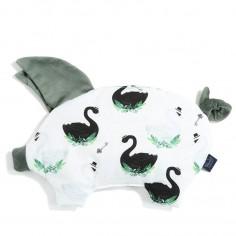 Velvet Collection - Podusia Sleepy Pig - Jungle Swan - Khaki