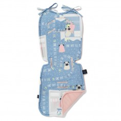 Velvet Collection - Stroller Pad - Doggy Unicorn Story -  Powder Pink