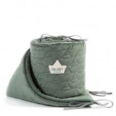 Velvet Collection - Ochraniacz do łóżeczka 70x140 cm - Khaki