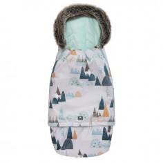 Śpiworek Superb Eskimo Do Wózka, Fotelika, Gondoli Rośnie z Dzieckiem Góry Mięta