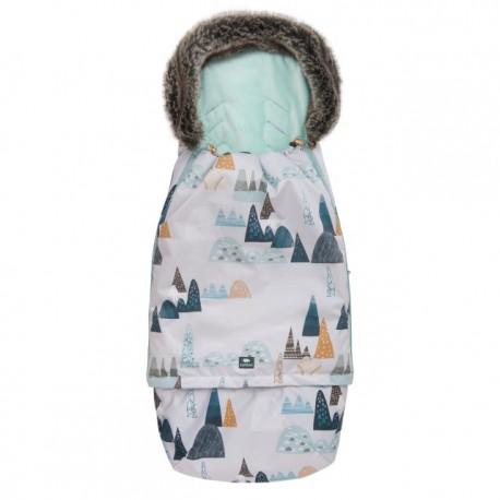 Śpiworek Superb Eskimo Do Wózka, Fotelika, Gondoli Rośnie z Dzieckiem Góry Petrol