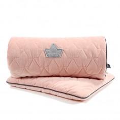 Velvet Collection - Set - Blanket & Mid Pillow - Powder Pink