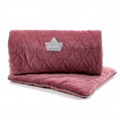 Velvet Collection - Set - Blanket & Mid Pillow - Mulberry