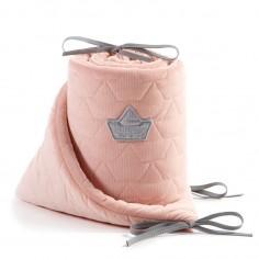 Velvet Collection - Ochraniacz do łóżeczka 70x140 cm - Powder Pink