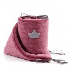 Velvet Collection - Ochraniacz do łóżeczka 70x140 cm - Mulberry
