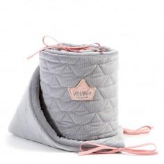 Velvet Collection - Ochraniacz do łóżeczka 70x140 cm - Dark Grey