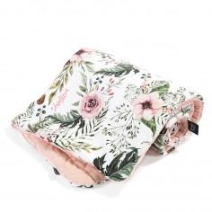Velvet Collection - Narzutka Przedszkolaka Slim - Wild Blossom - Powder Pink