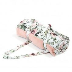 Koc Picnic z kieszonką, Mata do Zabawy XL - Wild Blossom - Powder Pink