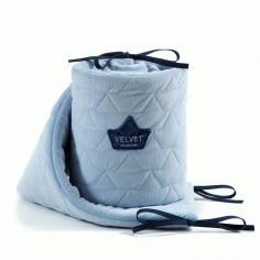 Velvet Collection - Ochraniacz do łóżeczka 60x120 cm - Dusty Blue