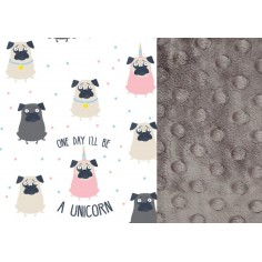 Podusia Sleepy Pig  - Doggy Unicorn - Grey