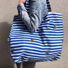 Shopper Bag - Barber Sailor Strips