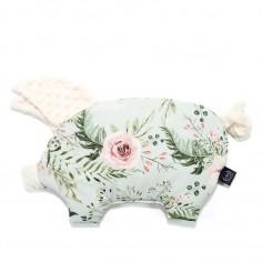 Podusia Sleepy Pig -  Wild Blossom Mint - Ecru