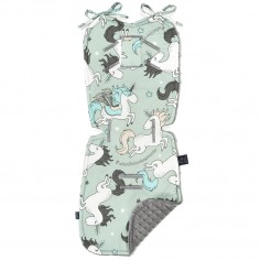 Stroller Pad - Unicorn Rainbow Knight - Grey