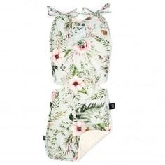 Stroller Pad - Wild Blossom Mint - Ecru