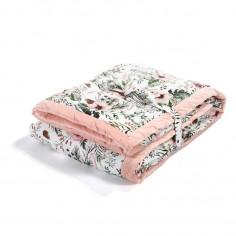 Koc, Narzuta 140 X 200 Cm - Wild Blossom - Powder Pink