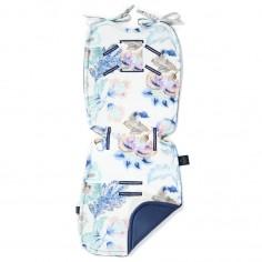 Velvet Collection - Thick Stroller Pad - Iris Sorbet - Harvard Blue