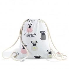 Velvet Collection - Plecak Double Pack - Dark Grey - Doggy Unicorn