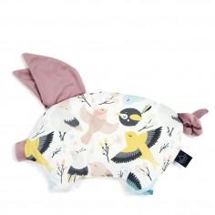 Velvet Collection - Podusia Sleepy Pig - Cute Birds - Lavender
