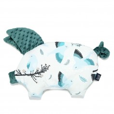 Podusia Sleepy Pig - Blue Birds - Deep Ocean