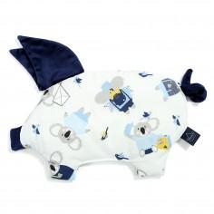 Velvet Collection - Podusia Sleepy Pig - Hello World - Royal Navy
