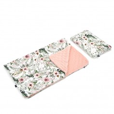 Velvet Collection - Kid Kit : Kocyk i Bed Pillow - Wild Blossom - Powder Pink