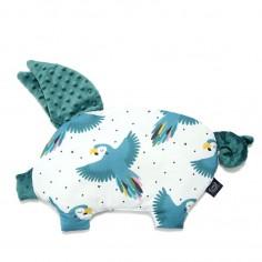 Podusia Sleepy Pig - Parrot Lover - Deep Ocean