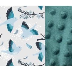 Kocyk Niemowlaka - Blue Birds - Deep Ocean